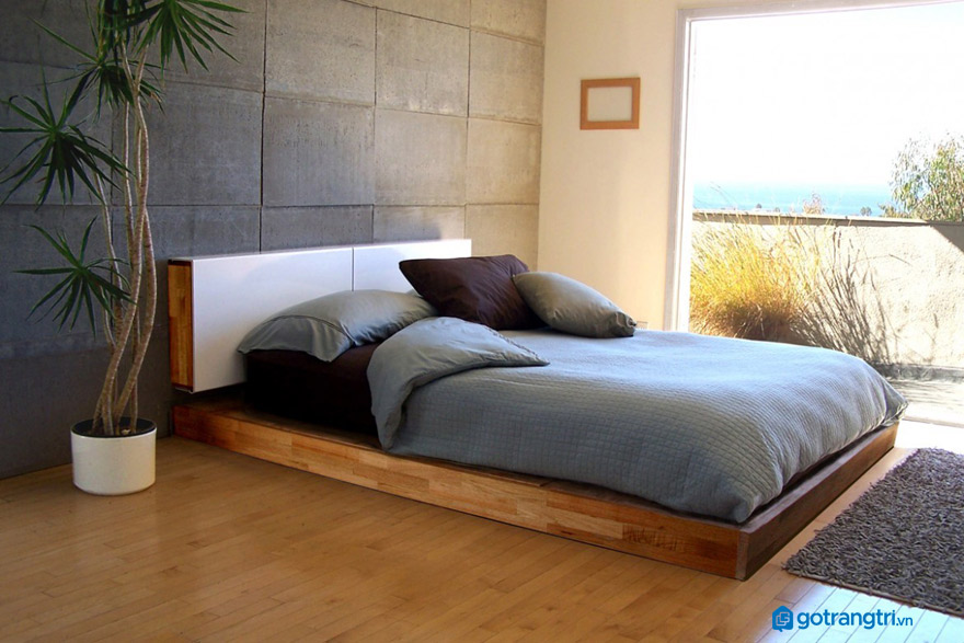 Giường không chân cho phòng ngủ