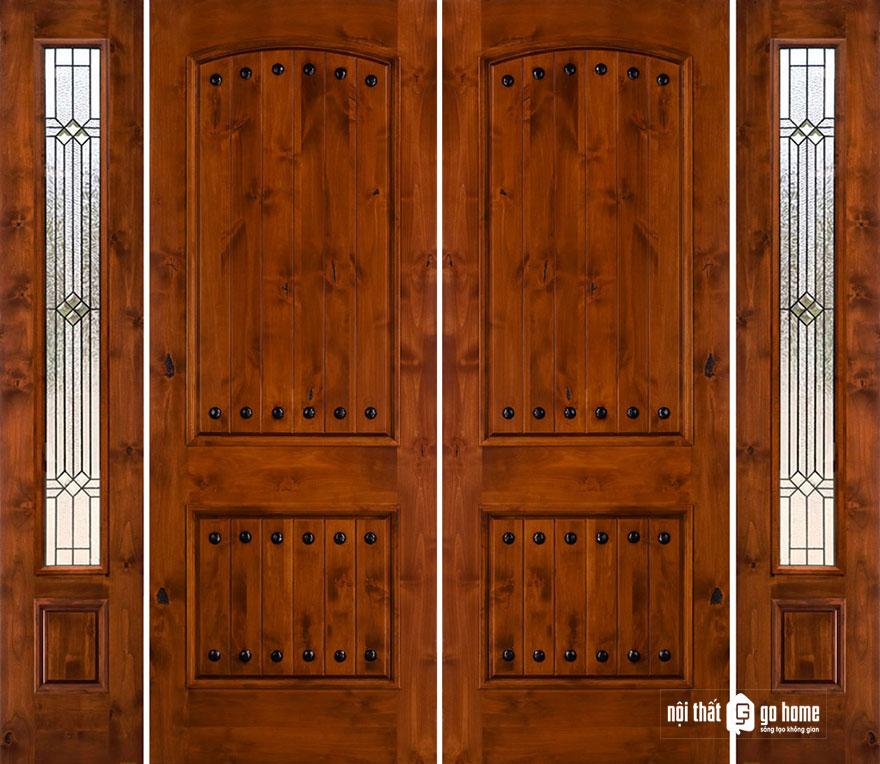 mẫu cửa gỗ 4 cánh 12