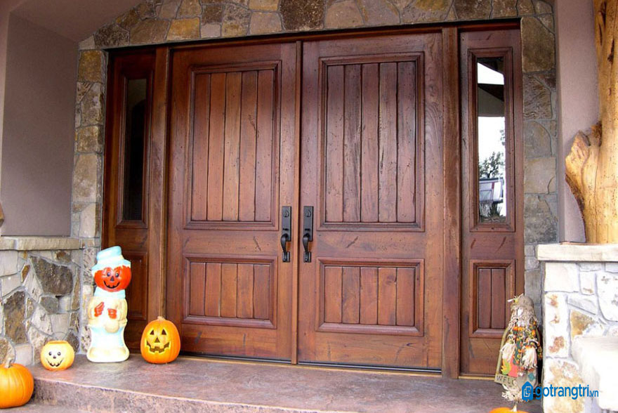 mẫu cửa gỗ 4 cánh 14