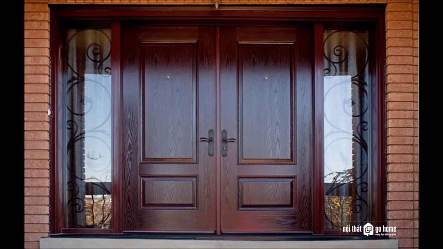 mẫu cửa gỗ 4 cánh 16