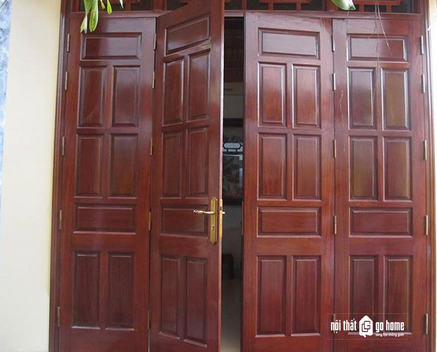 mẫu cửa gỗ 4 cánh 20