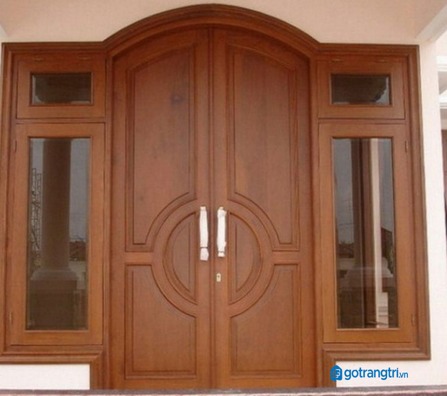 mẫu cửa gỗ 4 cánh 23