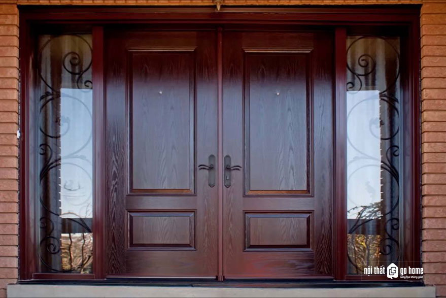 mẫu cửa gỗ 4 cánh 11