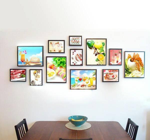 Bộ khung ảnh treo tường trang trí phòng ăn - Giahuyshop