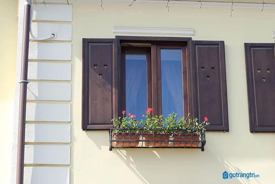 mẫu cửa sổ gỗ 2 cánh