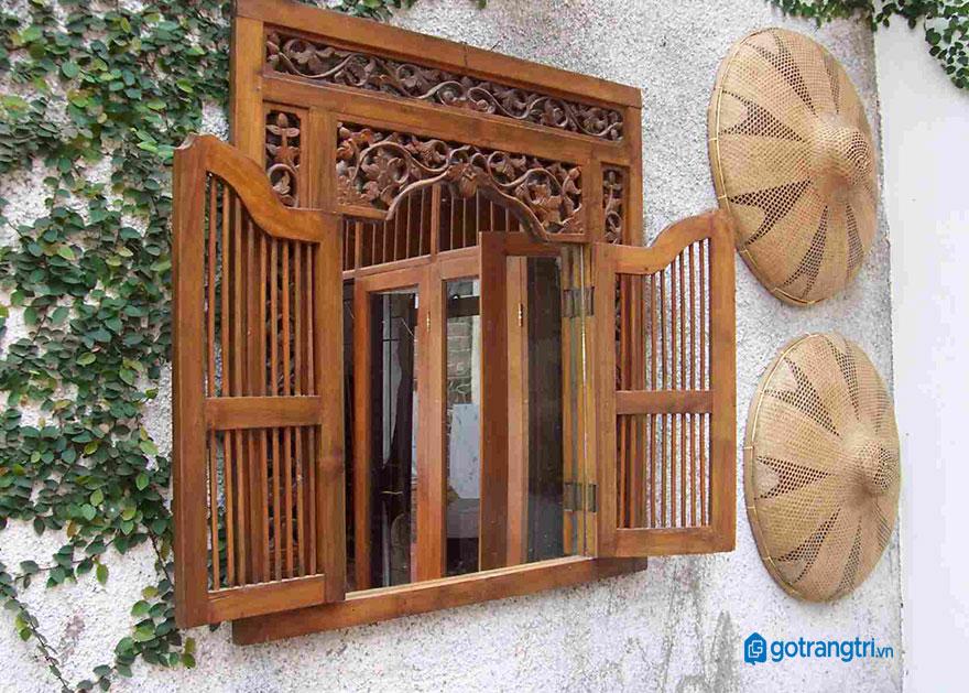 mẫu cửa sổ gỗ 2 cánh 6
