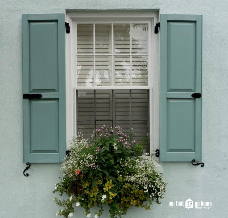 mẫu cửa sổ gỗ 2 cánh 8