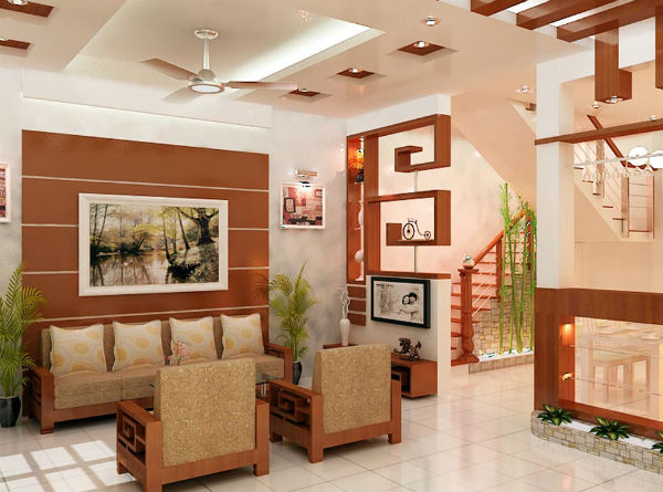 Sử dụng màu sơn nổi bật trang trí phòng khách