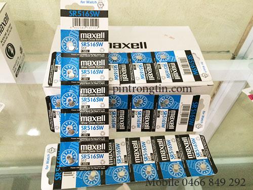 Pin Maxell SR516 pin đồng hồ - pintrongtin.com