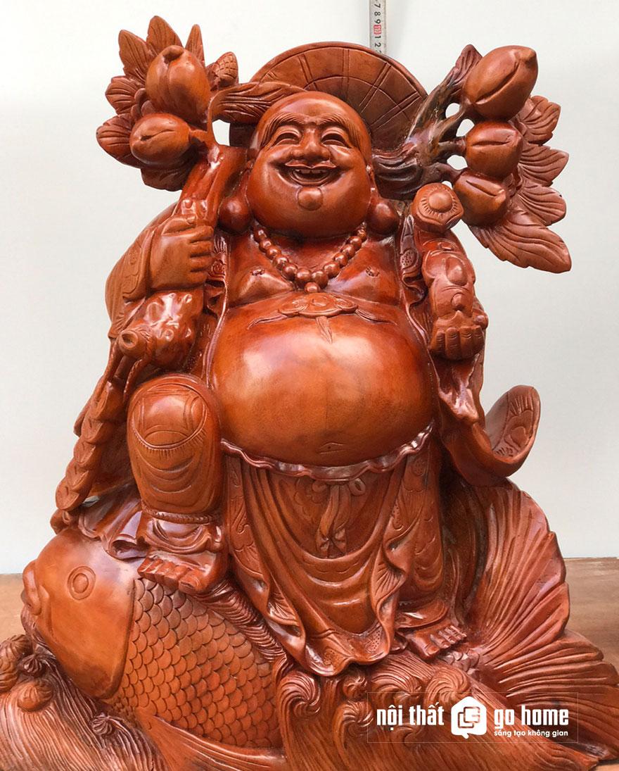 tượng phật di lặc gỗ xá xị 4