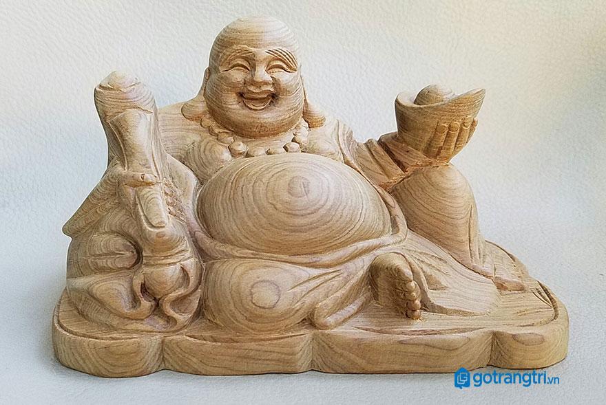 tượng phật di lặc gỗ xá xị 5