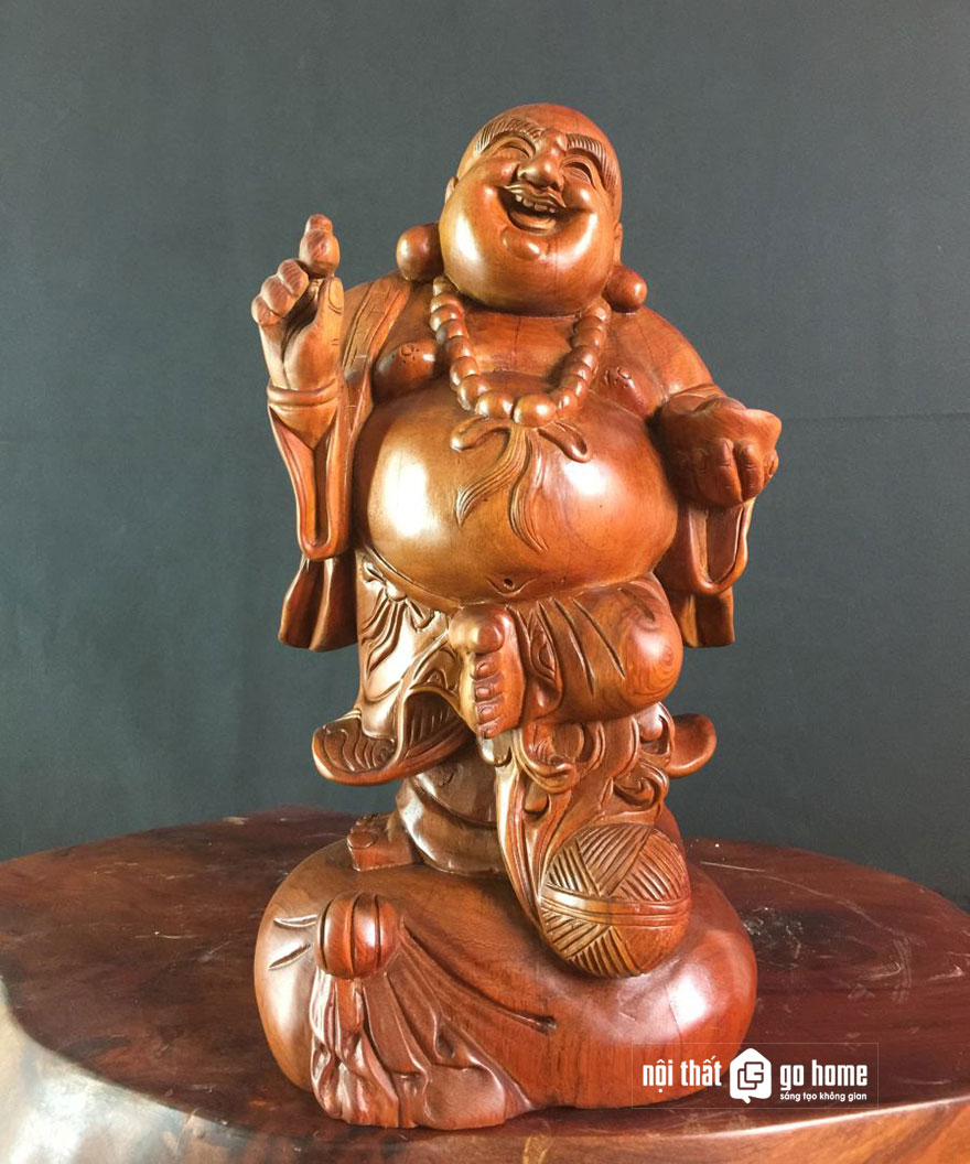 tượng phật di lặc gỗ xá xị 8