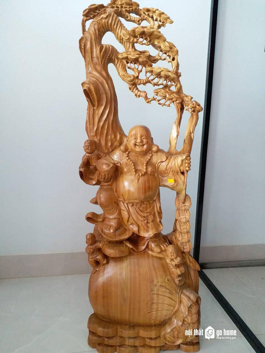 tượng phật di lặc gỗ xá xị 9