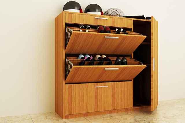 Tủ đựng giày thông minh nhỏ gọn nhưng chứa được số số lượng giày dép lớn