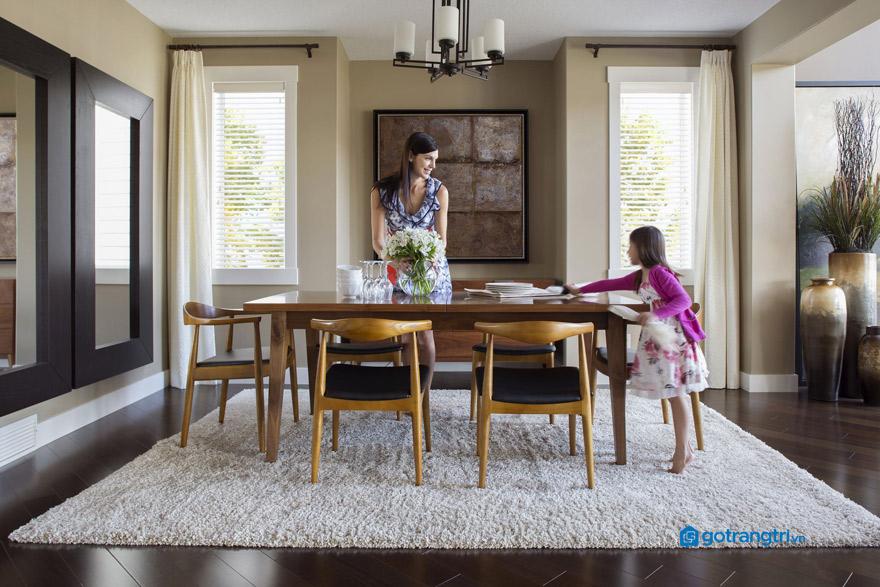 Những vị trí nên và không nên đặt bàn ăn theo phong thuỷ