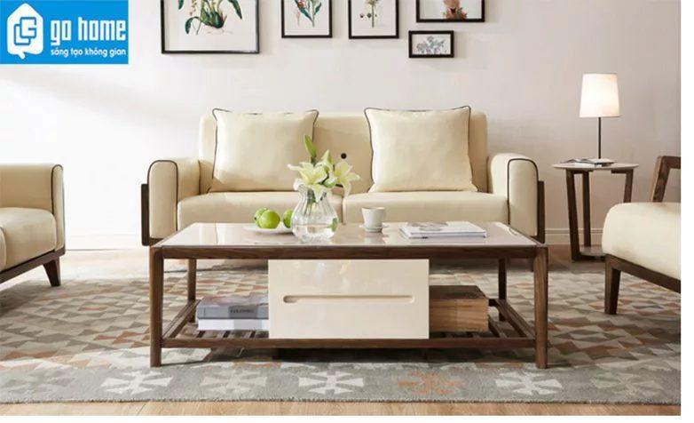 bàn trà kết hợp ghế sofa
