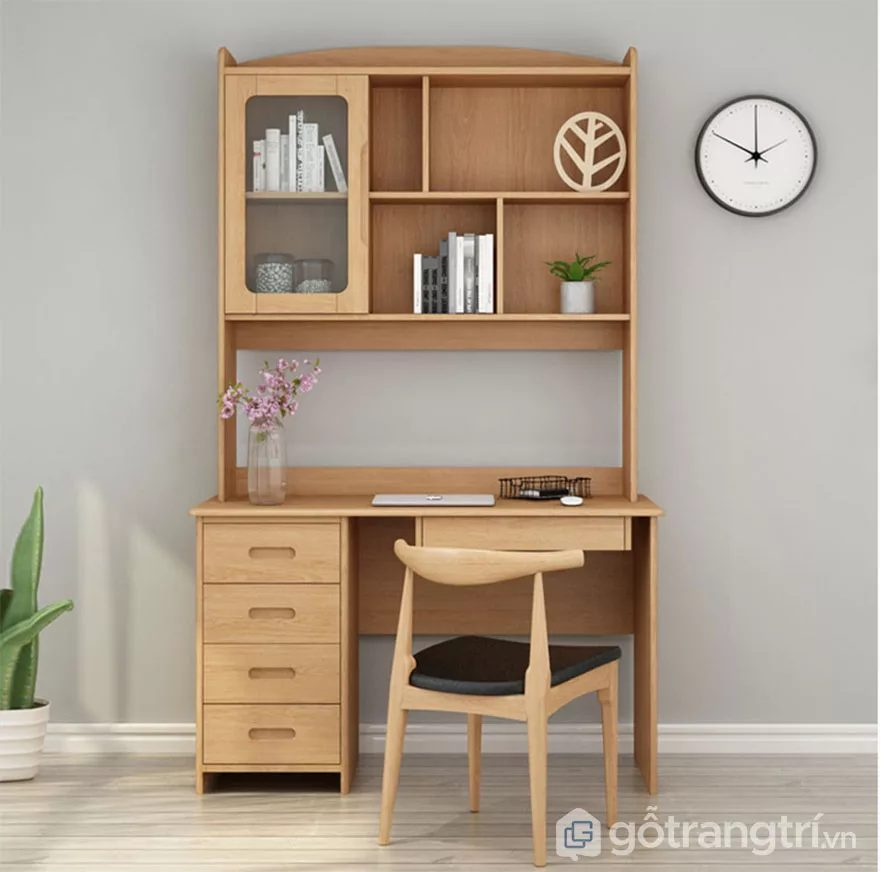 Bnà học sinh gỗ tự nhiên phong cách thiết kế đẹp GHS-4670
