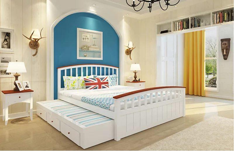giường tầng bé trai thiết kế tọa điểm nhấn đơn giản