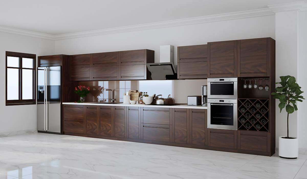 thủ bếp gỗ thông minh và hiện đại