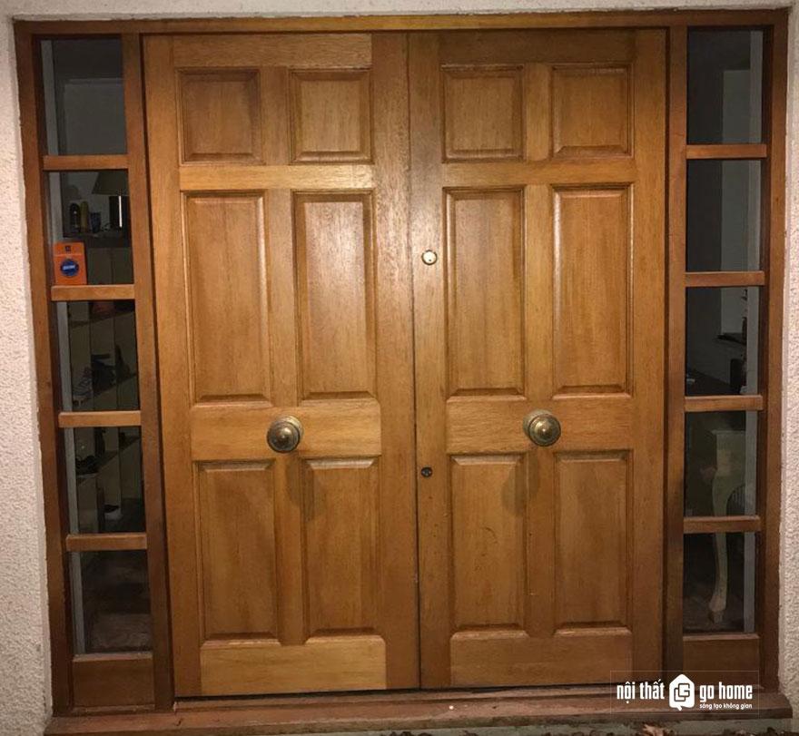 mẫu cửa gỗ 4 cánh 13