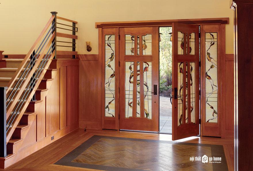 mẫu cửa gỗ 4 cánh 19