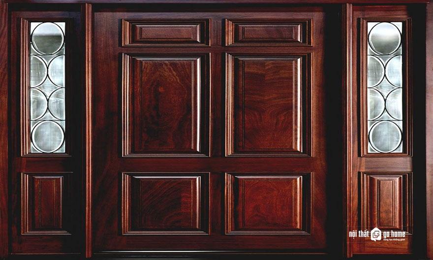 mẫu cửa gỗ 4 cánh 4