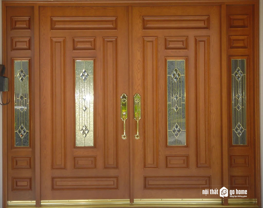 mẫu cửa gỗ 4 cánh 21
