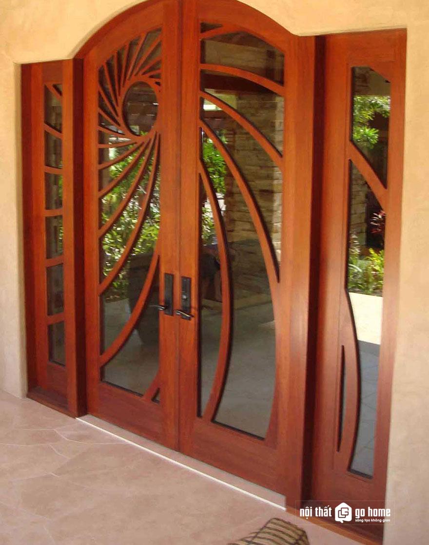 mẫu cửa gỗ 4 cánh 5