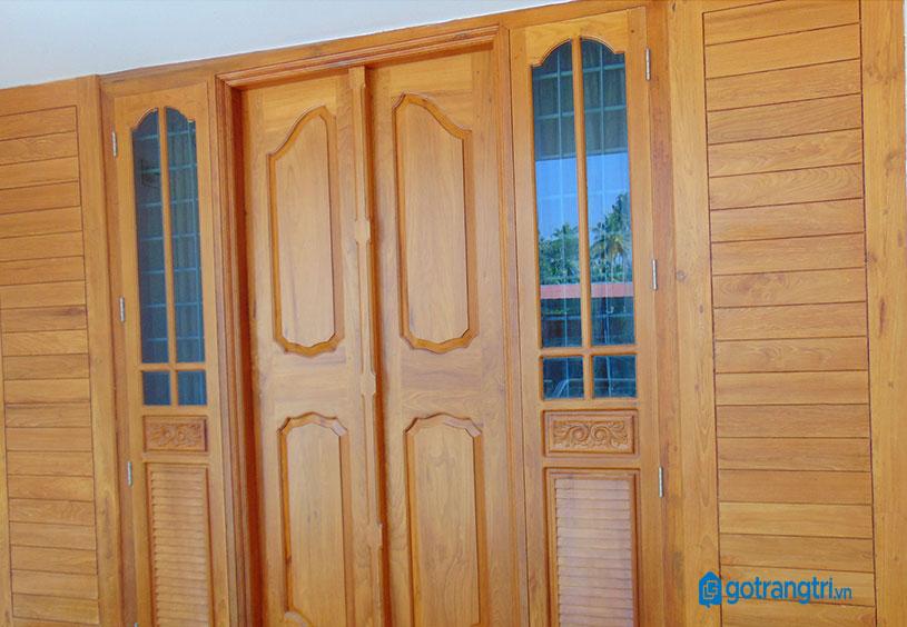 mẫu cửa gỗ 4 cánh 6