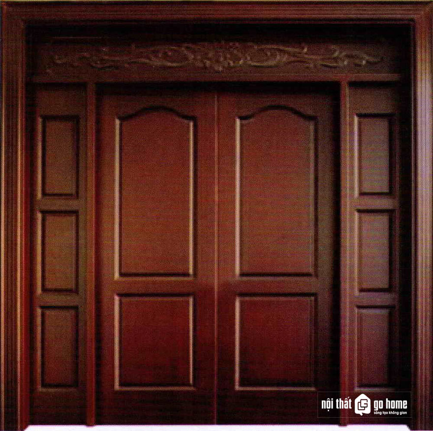 mẫu cửa gỗ 4 cánh 9
