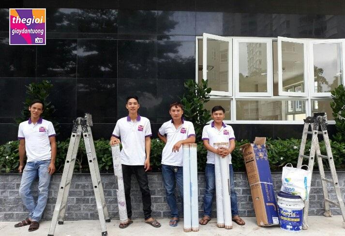 Đội thi công giấy dán tường Hàn Quốc chuyên nghiệp
