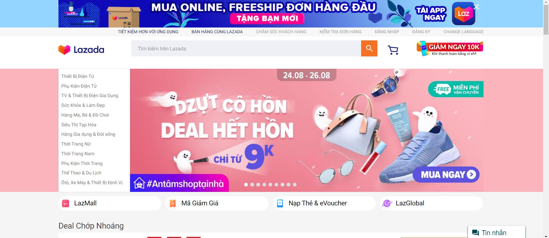 Top 5 sàn thương mại điển tử lớn nhất Việt Nam